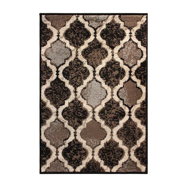Colena Geometric Ivory Area Rug With Images Black Area Rugs