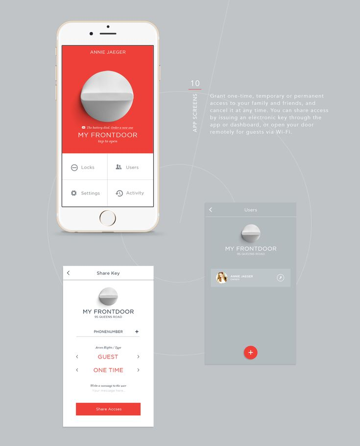 Friday Smart Lock on Behance