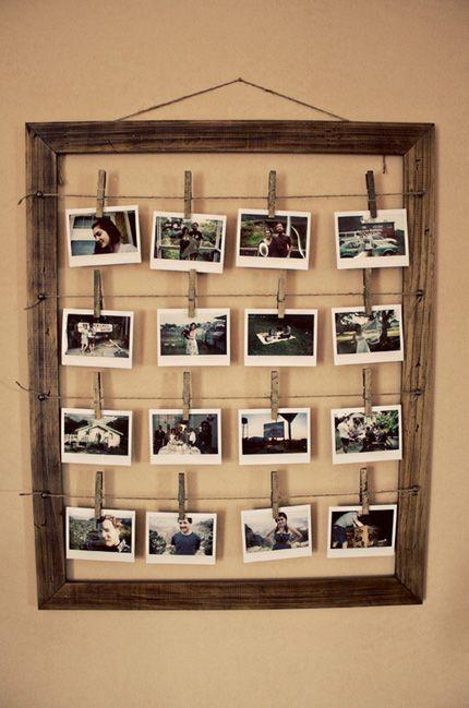 За рамки: нестандартное размещение фотографий в интерьере