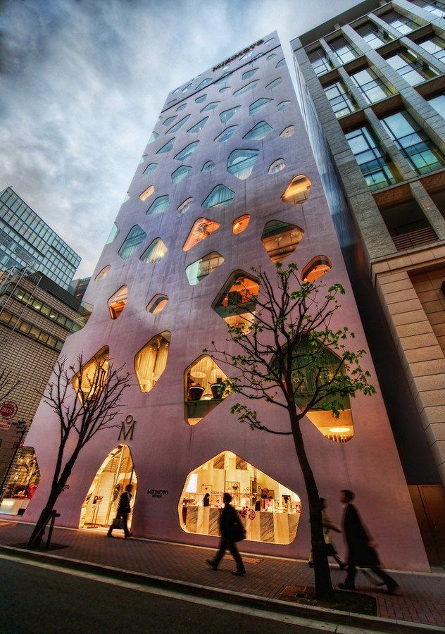 Mikimoto building in Ginza, Tokyo, Japan: Design Inspiration, Stunning Photography, Stores Front, Tokyo Japan, Toyo Ito, Japan Design, Japan Architecture, Amazing Architecture, Mikimoto Building