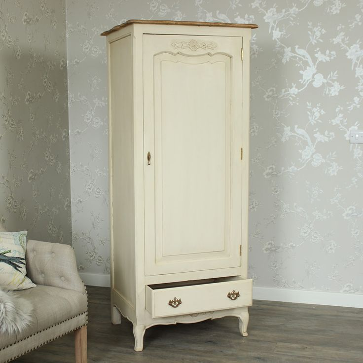 Normandy Range - Cream Single Wardrobe