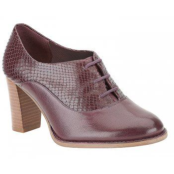 Clarks Alfresco Art Wine Leather Lace Court Shoe - Clarks from Bells Shoes UK size 6/39