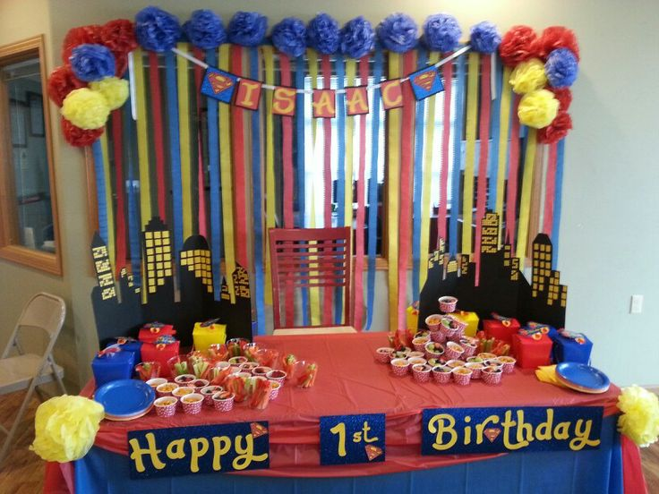 beautiful beloved Superman Birthday Party banner Superman