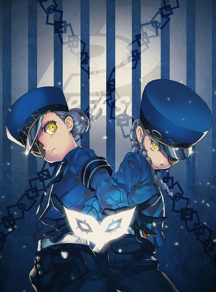 Persona 5's Caroline and Junstine ^^b