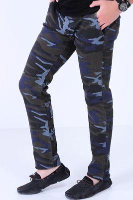 Detayları Göster Mavi Kamuflaj Pantolon