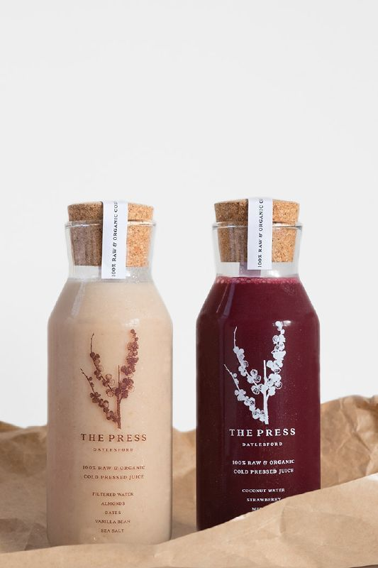 on May 21 | with No Comments in Australia , Oceania | Beverages , Glass bottle , Juice Packaging Inspiration , Nadia Raineri , The Press Daylesford | The press is a new 100% raw and organic cold ...