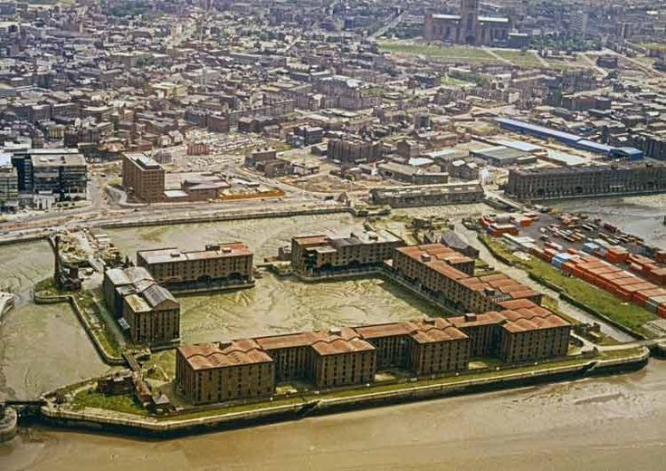 The Albert Dock before it was rescued c1982 /via Streets Of Liverpool