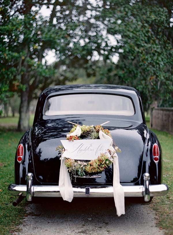 39 best wedding images on pinterest marriage biscuits and wedding 35 cool and creative wedding getaway car decor ideas weddingomania junglespirit Image collections