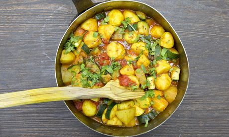 Jack Monroe's potato and courgette curry. Photograph: Graham Turner for the Guardian