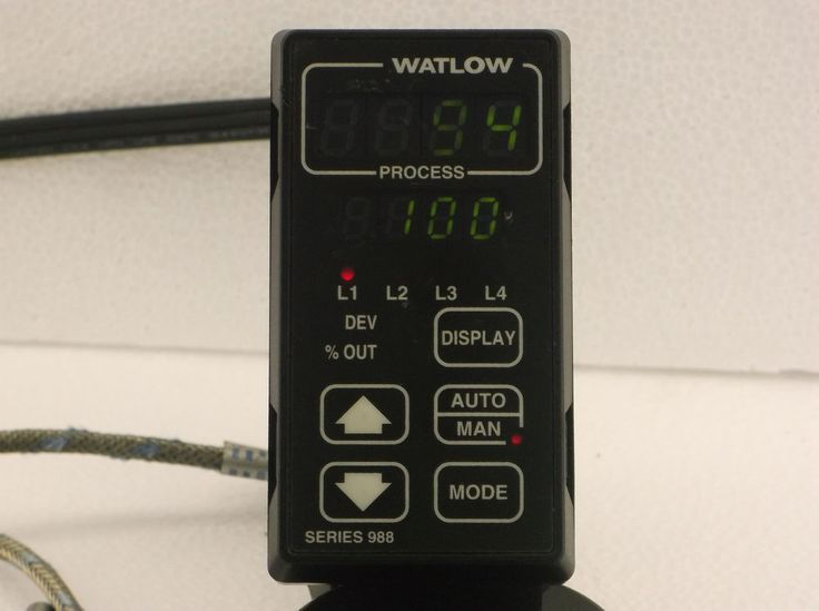 $49 Watlow 988A-10FA-AAGG Temp Process Control With working cable and Thermocouple #Watlow