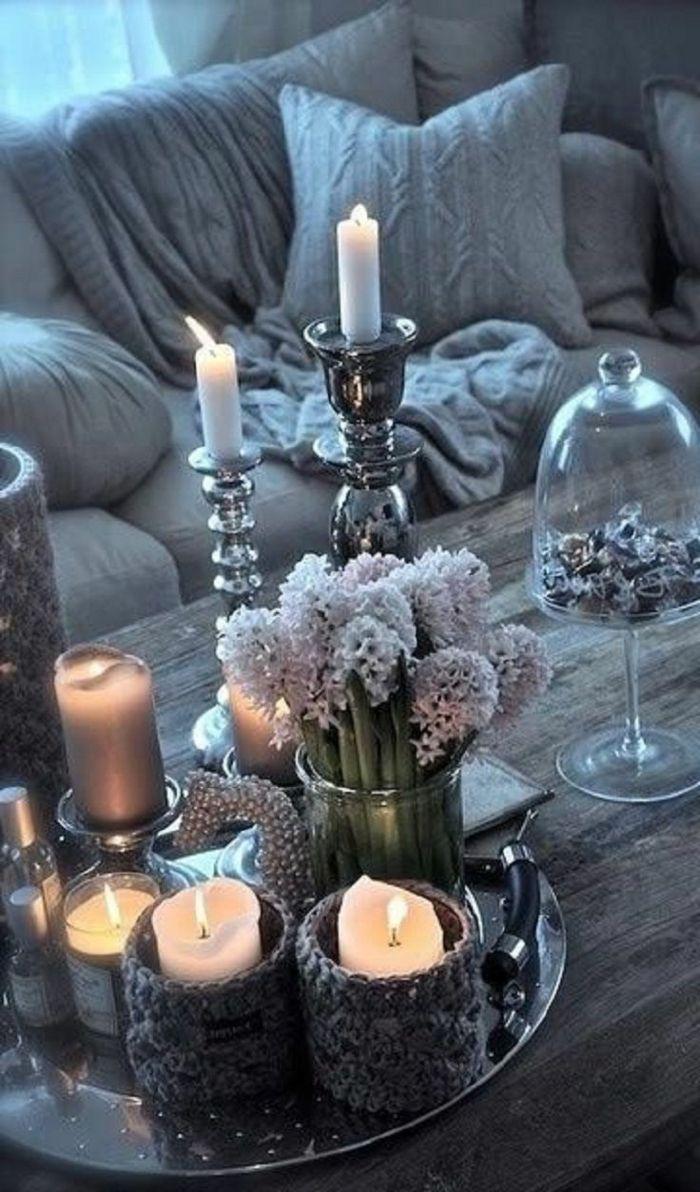 dekoration wohnzimmer selber machen:Mit Lavendel und Spitze dekorieren – eine