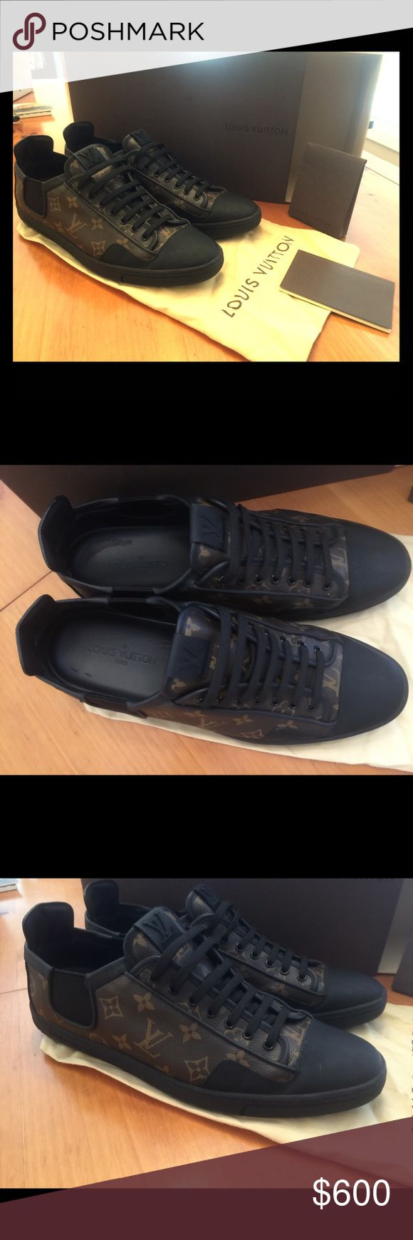 Authentic Louis Vuitton mens shoes size 10.5 Mens LV black and brown shoes - size 10.5 Louis Vuitton Shoes