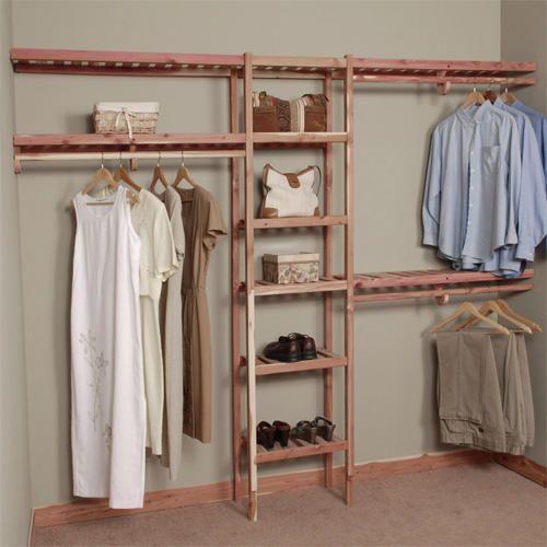 Superb  Basic Ventilated Cedar Closet Wall Kit