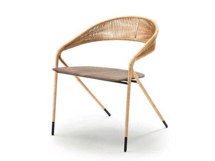 Sedia con braccioli GEORGE'S by Living Divani | design David Lopez Quincoces