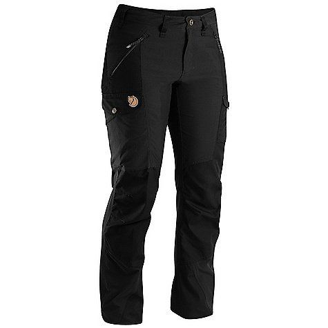 Fjallraven Nikka Trouser - Women's Black 14 / 38 Inseam by Fjallraven. $167.95. DECENT FEATURES of the Fjallraven Women's Nikka Trouser Trekking trouser in stretch and G-1000 that gives you freedom of movement and durability G-1000 reinforcement at butt, knees and leg ending Extra high at back rise and pree shaped knees 2 hand pockets, 1 big leg pocket, 1 smaller inner mesh pocket and 1 pocket for cellphone or gps Leather Logo The SPECS Fit/Waist: Regular Fit/Mid Wa...