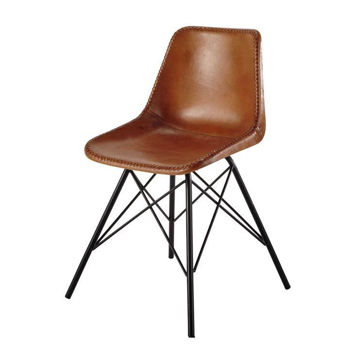 Chaise en cuir et métal ... - Austerlitz