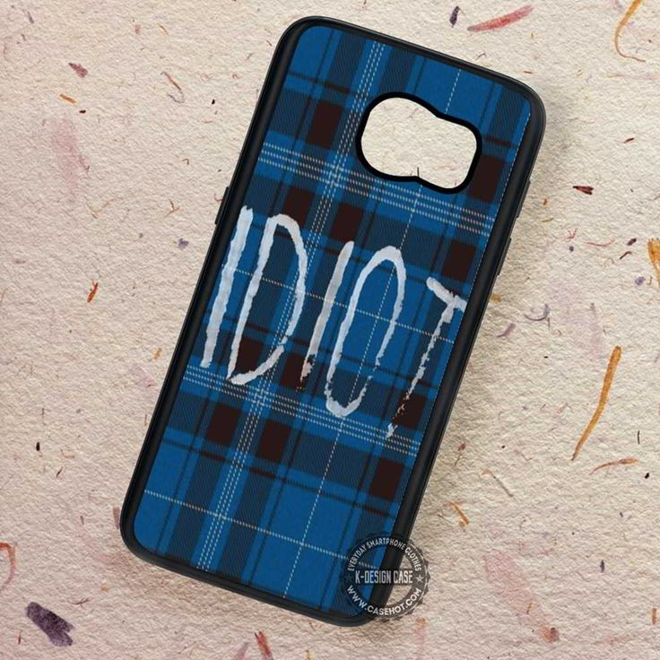 Blue Plaid Idiot Michael Clifford- Samsung Galaxy S7 S6 S5 Note 7 Cases & Covers