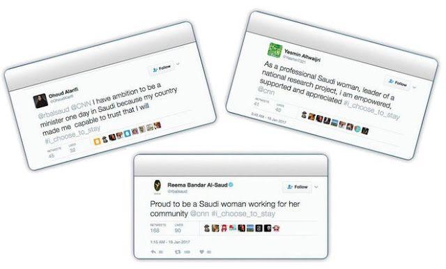 Alasan perempuan Saudi merasakan kebanggaan  Sejumlah kebanggaan menjadi wanita Saudi  Para perempuan Saudi membuat kampanye di media sosial Twitter untuk mengekspresikan kebanggaannya tinggal di Kerajaan itu. Aksi itu dilakukan setelah CNN memberikan laporan mengenai perempuan Saudi. Disebutkan seorang perempuan Saudi meninggalkan negaranya karena ingin mencari kebebasan dan menghindari penindasan. Seorang wanita keluarga Kerajaan yang juga kepala bagian perempuan di Otoritas Umum Olahraga…