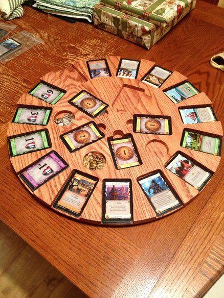 Für die nächste Spielerunde  Dominion Playing Card Carousel - by ChuckH @ LumberJocks.com ~ woodworking community