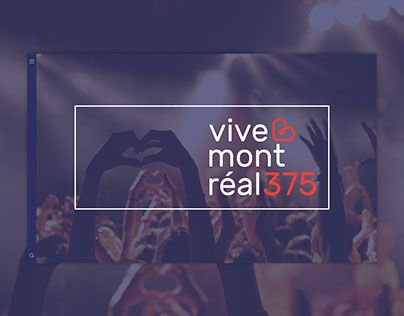 """Check out new work on my @Behance portfolio: """"Vive Montréal 375"""" http://be.net/gallery/47001013/Vive-Montral-375"""