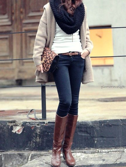 Fall outfit,  tall boots