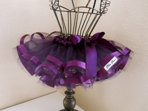 Satin Edged Princess Tutu Newborn  3 months Plum by petitepeanut, $25.00  Beautiful!