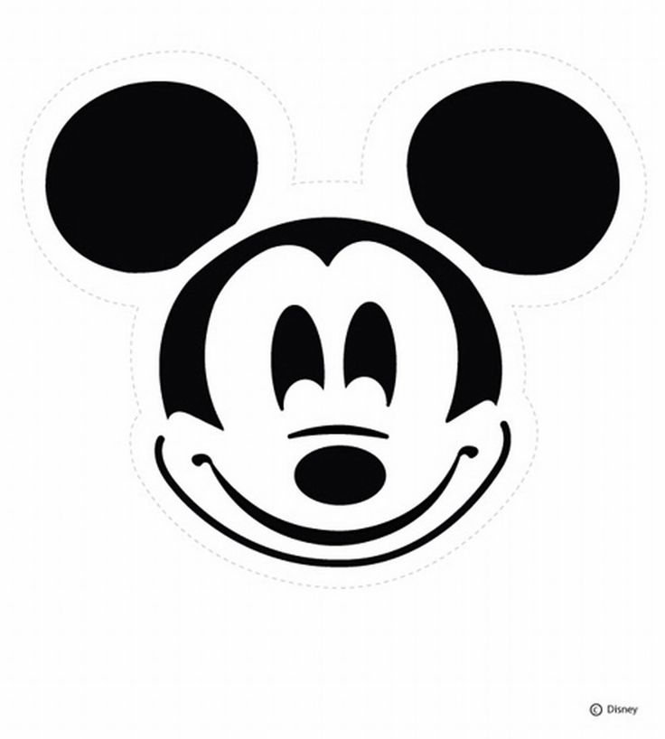 Disney Pumpkin Carving Patterns: Mickey Mouse