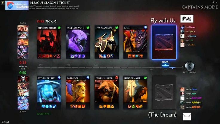 Dota2 Live Stream -(The Dream) Vs Fly with Us. [i-League Season 2 Ticket]