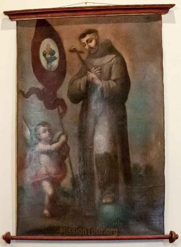 San Francesco nella chiesa della Missione San Buenaventura  a Ventura in California.