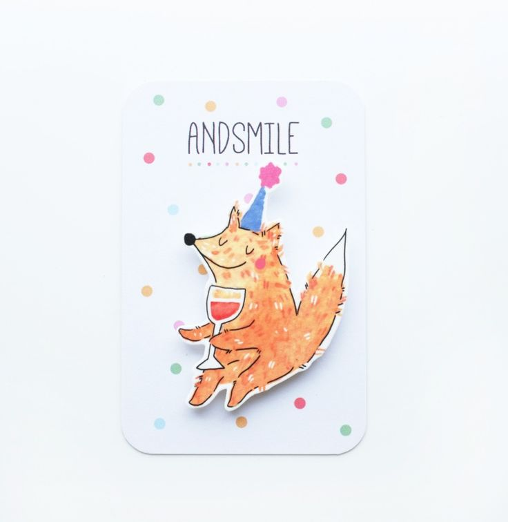 Broche party fox