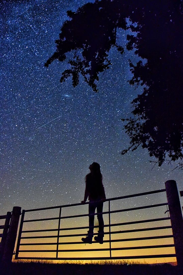 Imagine you are this person - imagine looking to the stars and notice what you notice