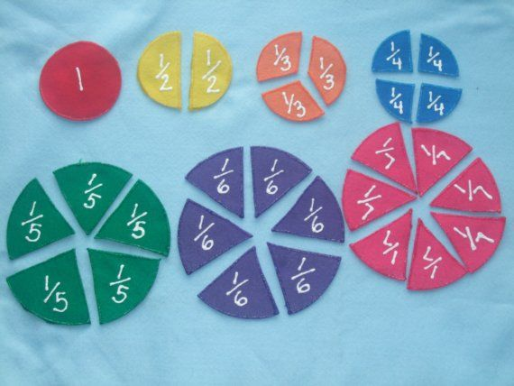 Handmade fraction circles out of felt - easy to make!