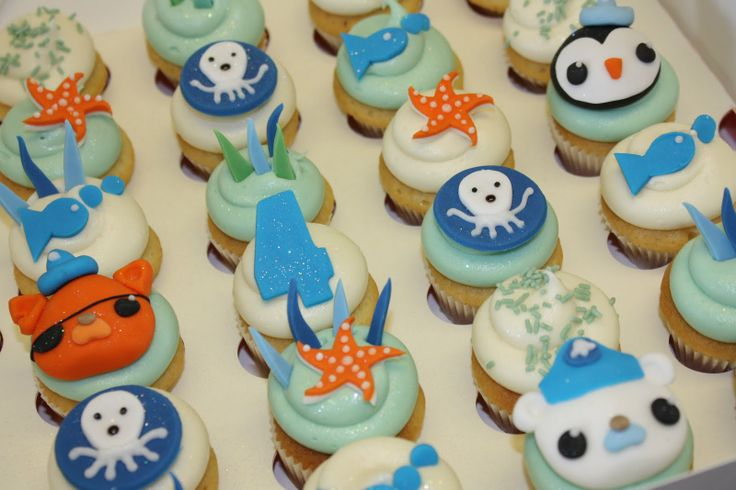 Octonauts cupcakes: Kids Parties, Cakes Ideas, Little House, Birthday Parties, Cakes Toppers, Octonaut Parties, Parties Ideas, Cupcake Toppers, Octonaut Cupcake