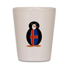 Penguin Flag Aland Islands Shot Glass