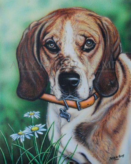 Randy by Amy Keller-Rempp Art. Acrylic on wooden panel.
