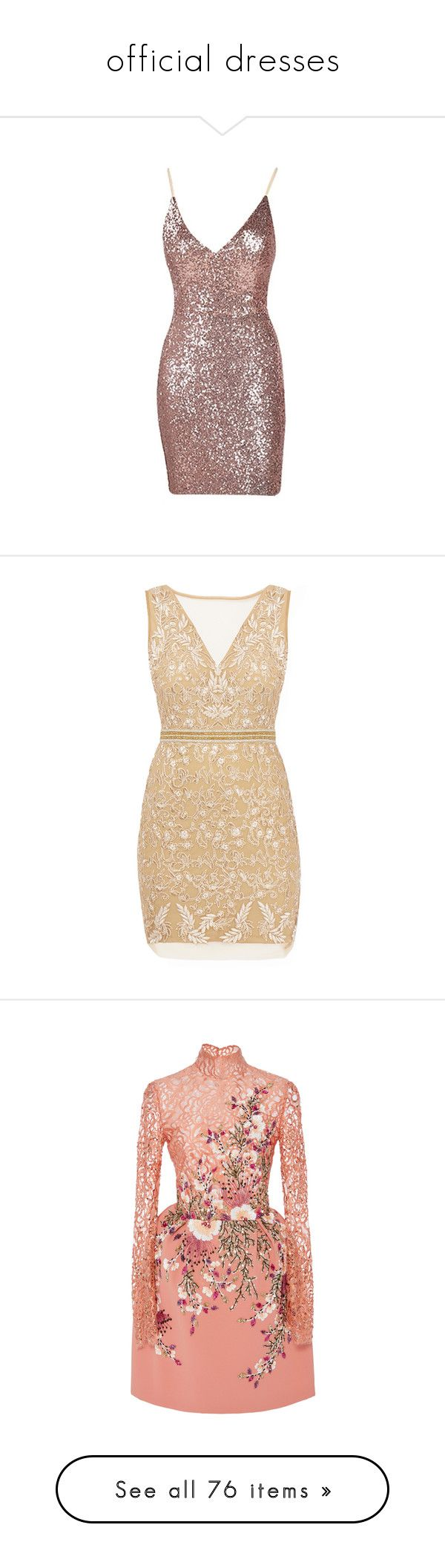 """""""official dresses"""" by polyvore966 ❤ liked on Polyvore featuring dresses, sequin cocktail dresses, spaghetti strap cocktail dress, sequin dresses, brown sequin dress, short dresses, vestidos, vestidos curtos, gold and v neck cocktail dress"""