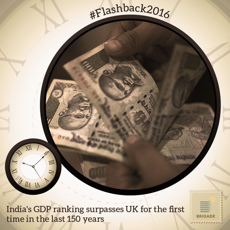 #India overtakes #Britain, for the first time in 150 years, as the World's 6th largest #economy in terms of GDP.