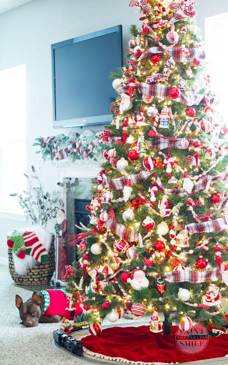 Classic Red White u0026 Plaid Christmas Decorations