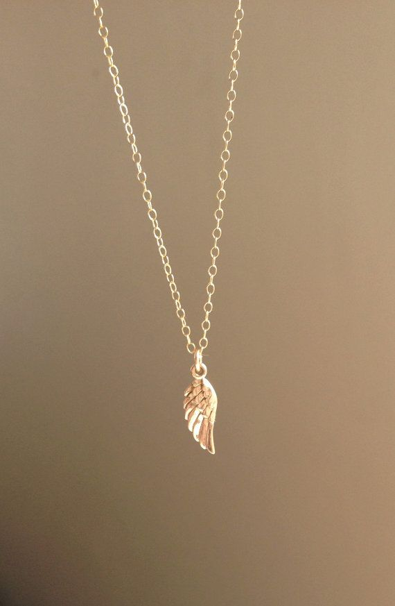 Gold Angel Wing 14k Gold Filled Necklace by edenzoe on Etsy