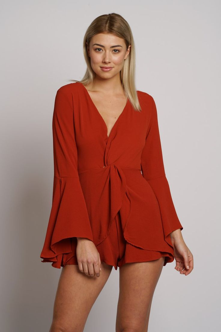 Kasey Playsuit-RUST