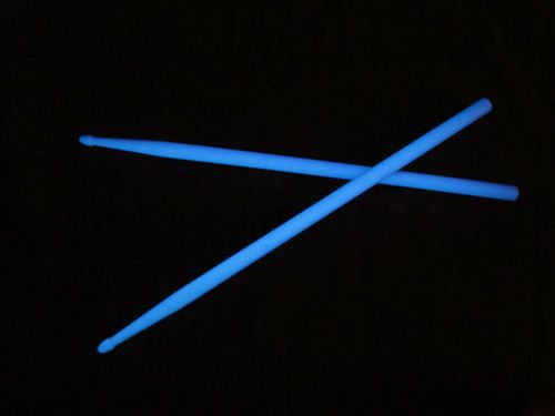 Hiptrix Glow-in-the-Dark Drumsticks 2nd Quality BLUE 5A ...