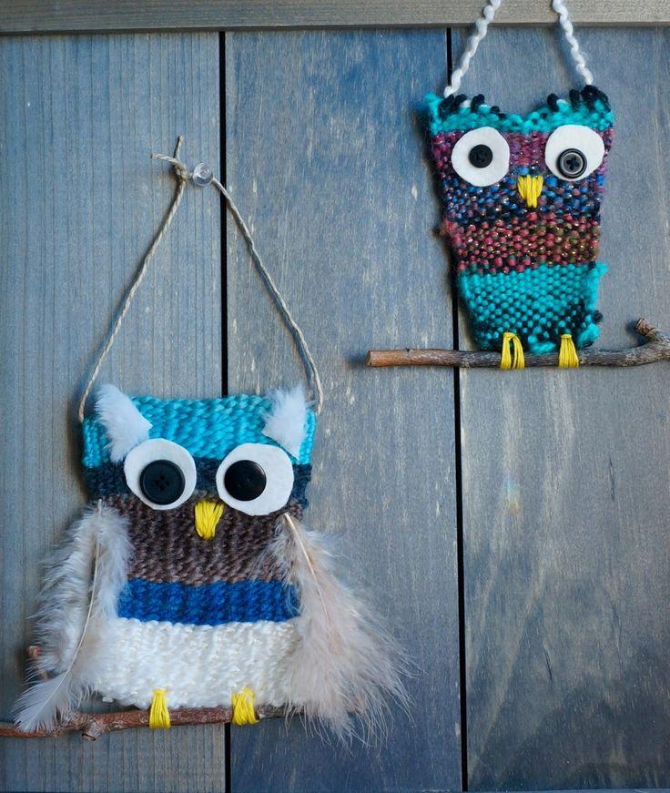 that artist woman: Woven Owls #2