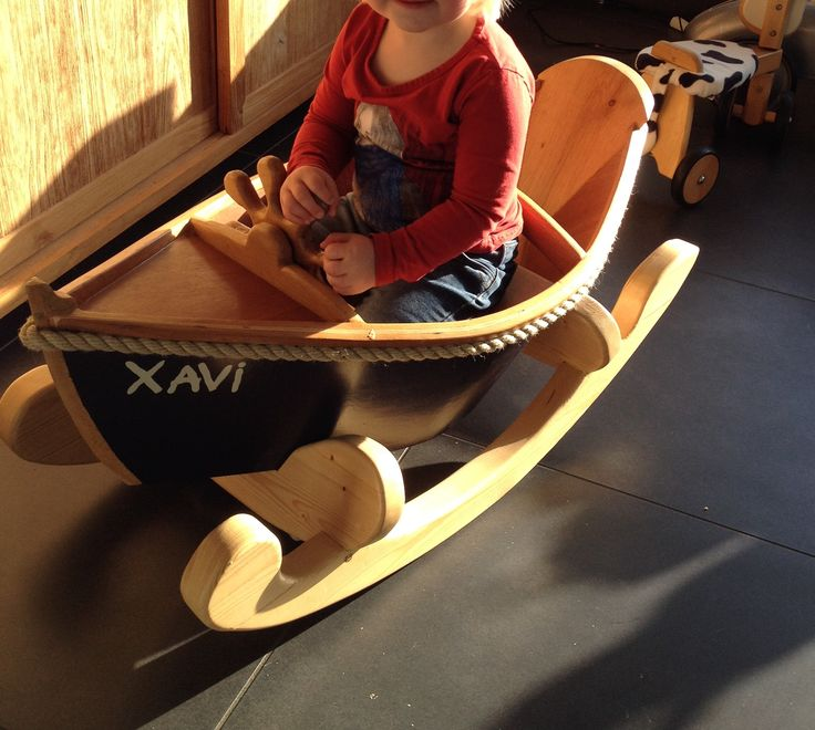 Prettiest rocking boat ever! Made from oak mahogany, spruce and red cedar.