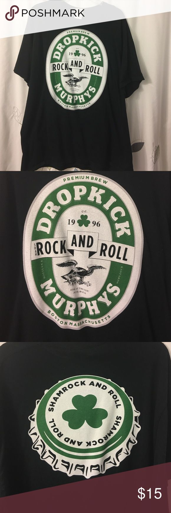Dropkick Murphys Concert shirt Worn once and bought from a Dropkick Murphy's show in Raleigh NC. Perfect condition only washed once! Shirts Tees - Short Sleeve