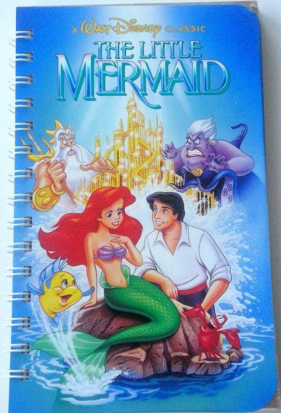 The Little Mermaid Vhs Notebook Movie Notepad Blank Notebook Vhs