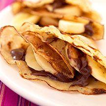 Crêpes met Nutella en banaan