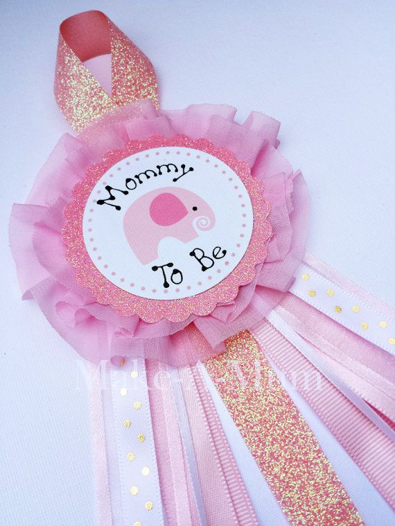 Elephant Pink and Blush Baby Shower corsage Mommy To by MakeAMum