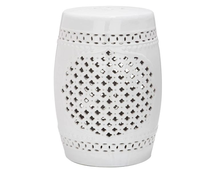 Safavieh Castle Gardens Collection Quatrefoil Ceramic Garden Stool White Add a classic accent your garden patio deck or any indoor room with the ...  sc 1 st  Pinterest & 923 best Furniture /deco for holiday home images on Pinterest ... islam-shia.org