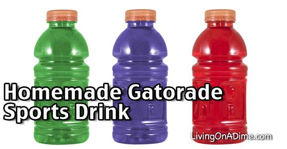 These homemade gatorade sports drink recipes are quick and easy to make. They're inexpensive and if you drink a lot of them, you'll save a lot of money!