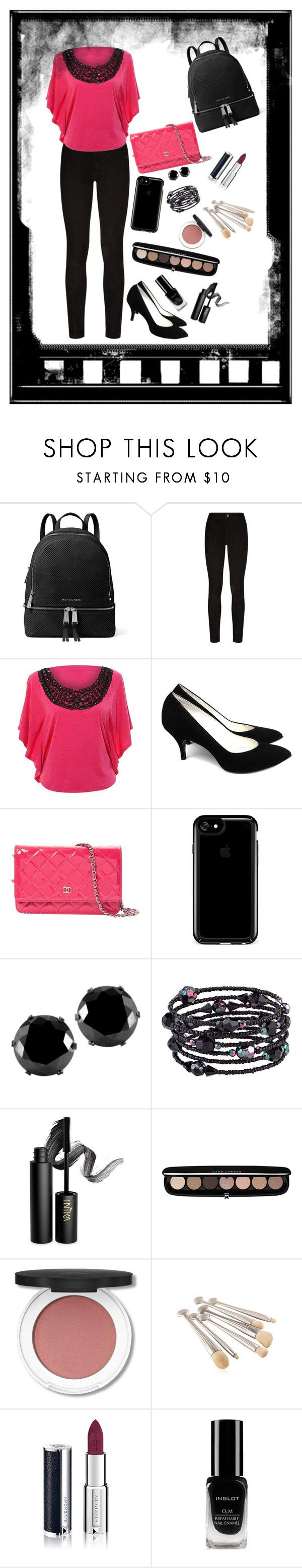 """""""Back To School"""" by princesswaterlily ❤ liked on Polyvore featuring MICHAEL Michael Kors, Paige Denim, jon & anna, Chanel, Speck, West Coast Jewelry, 1928, INIKA, Marc Jacobs and Givenchy"""